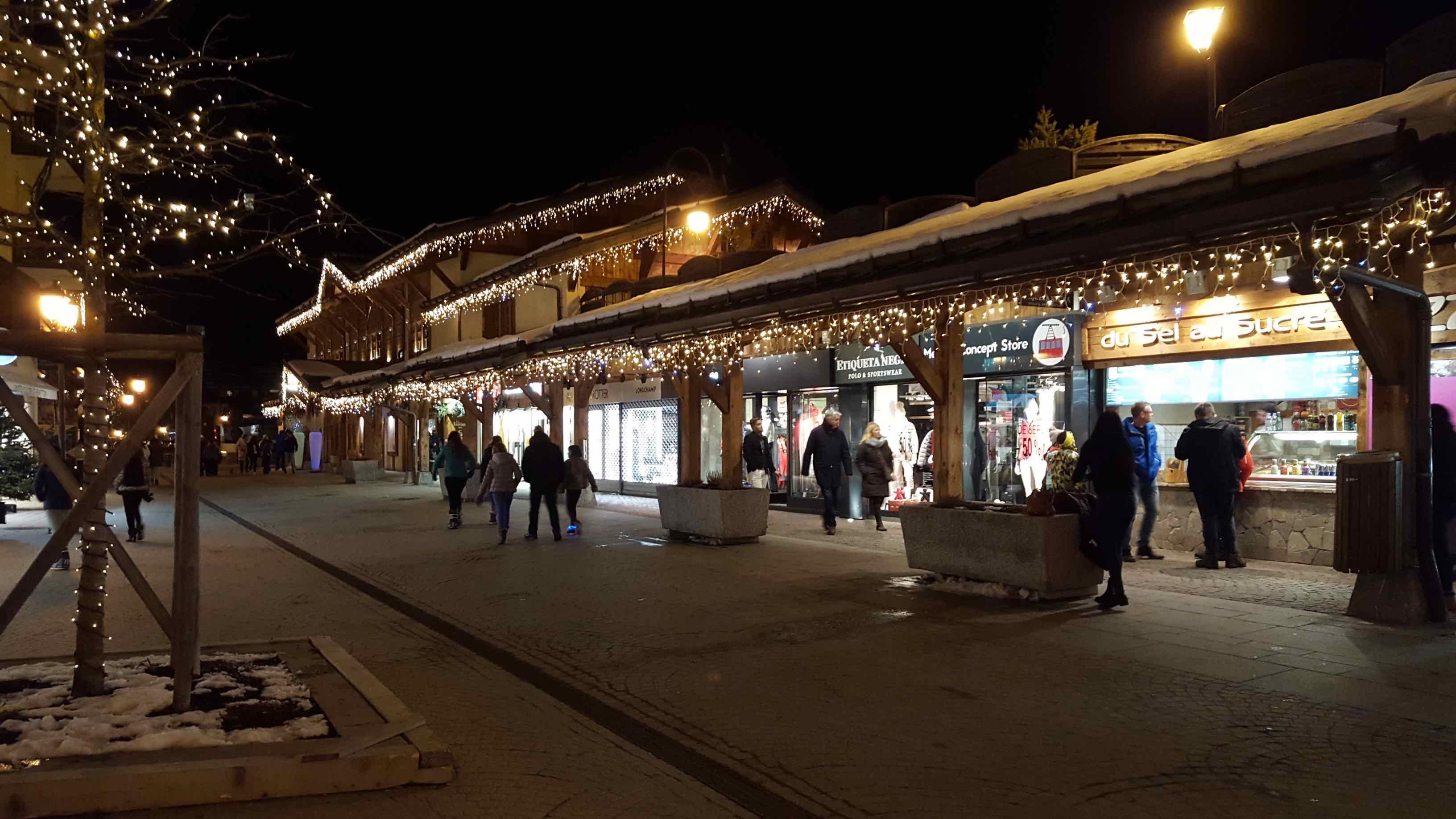 Megève by night