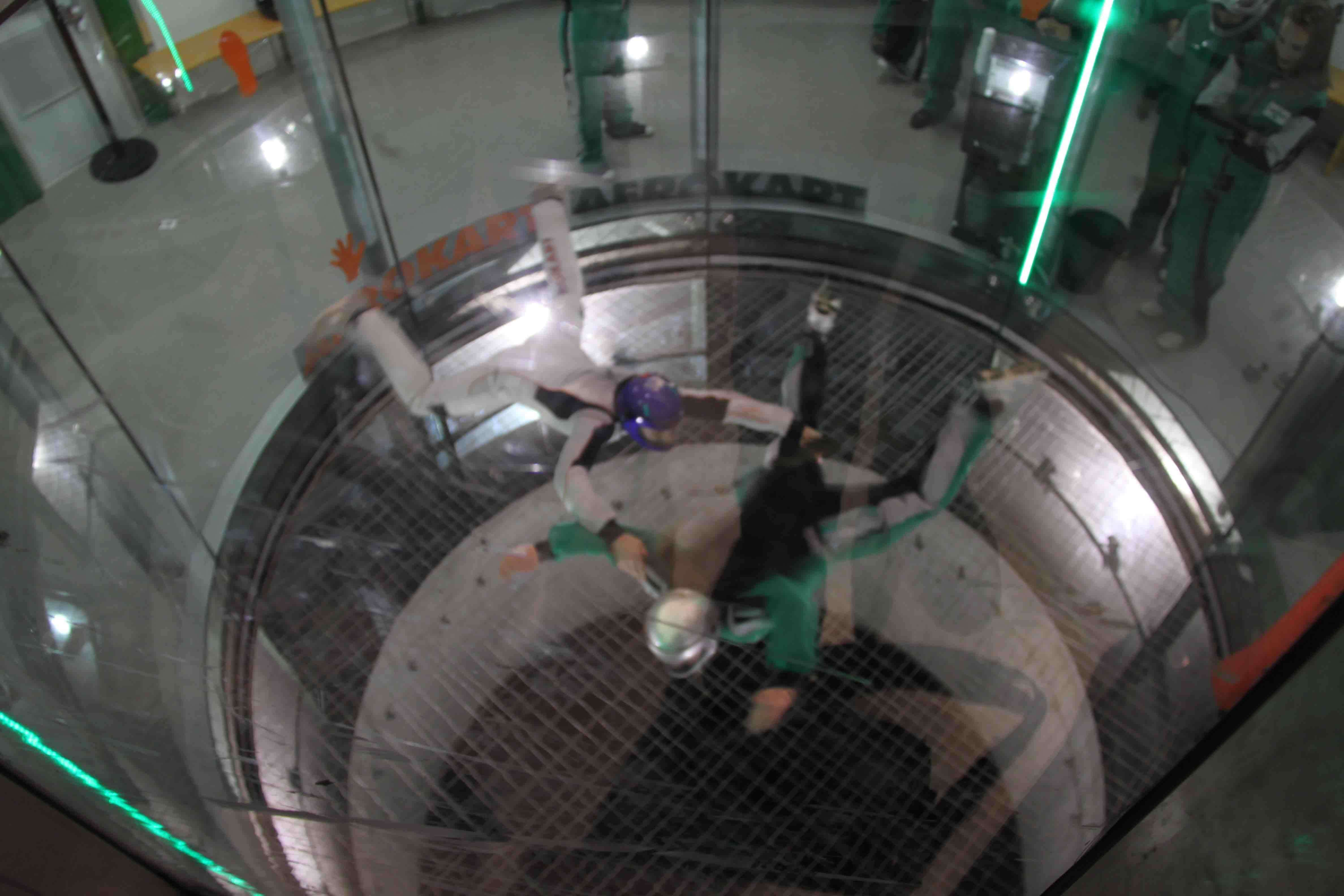 Simulation de saut en chute libre