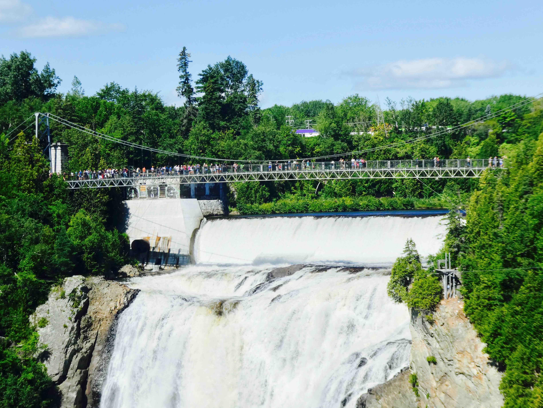 Chute Montmorency pont suspendu