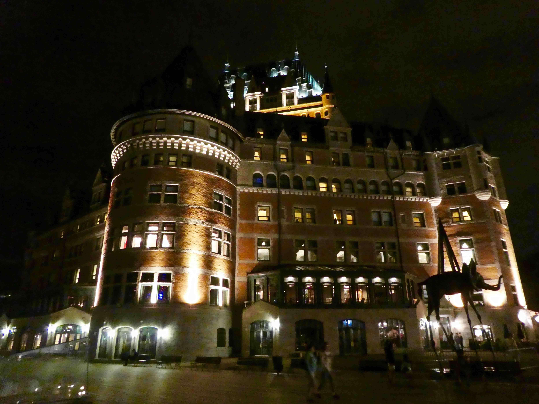 Québec chateau frontenac de nuit