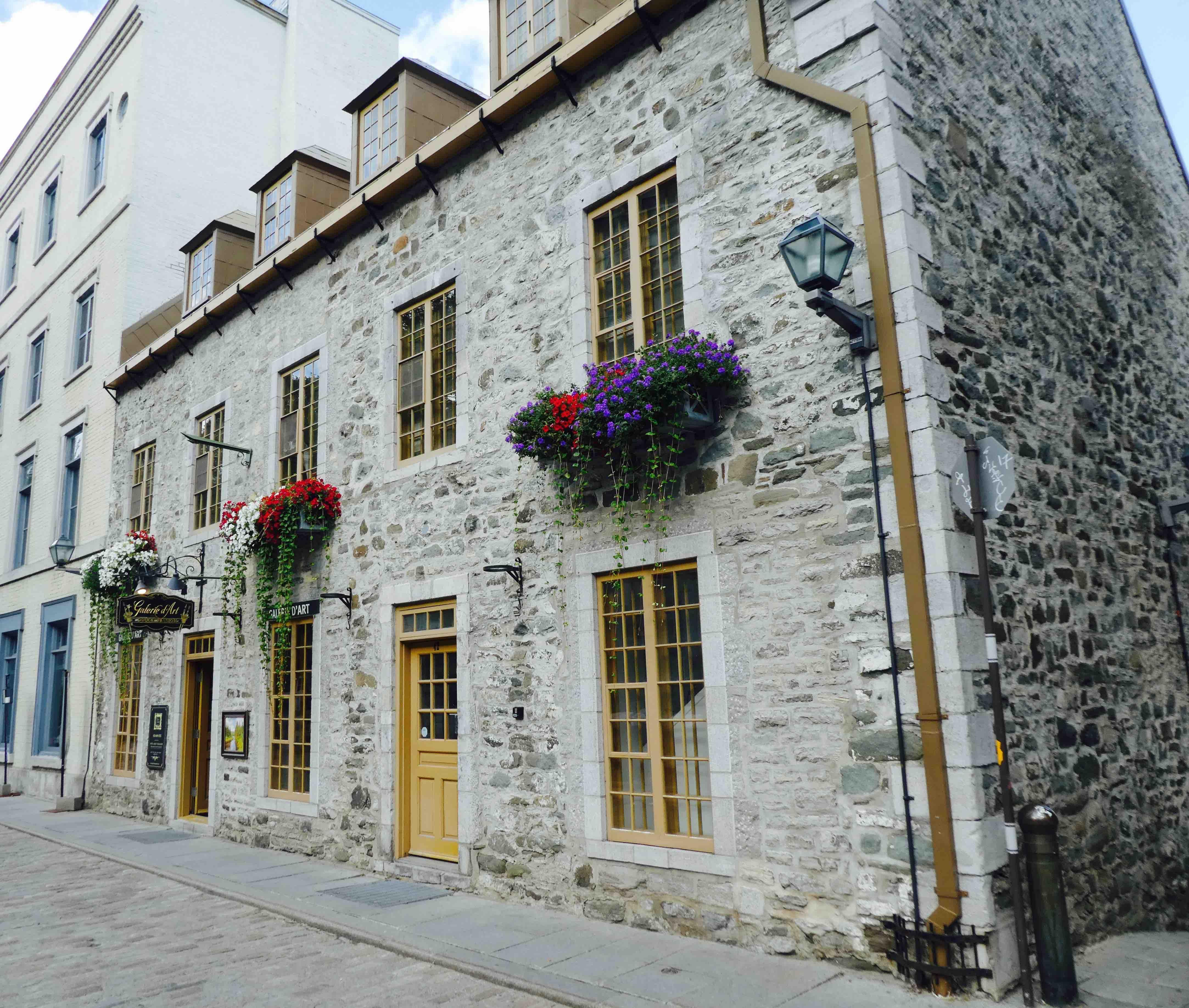 maison typique du vieux Québec
