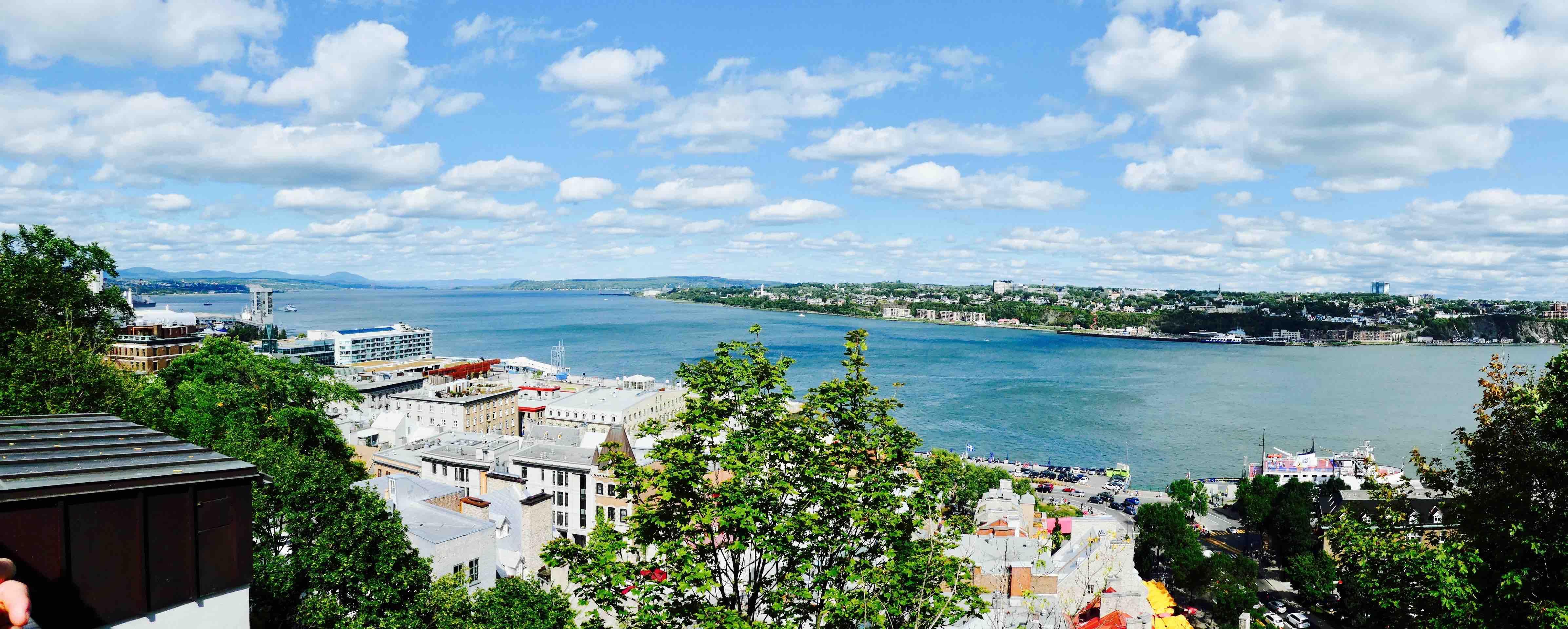 Québec vue sur le fleuve saint-laurent