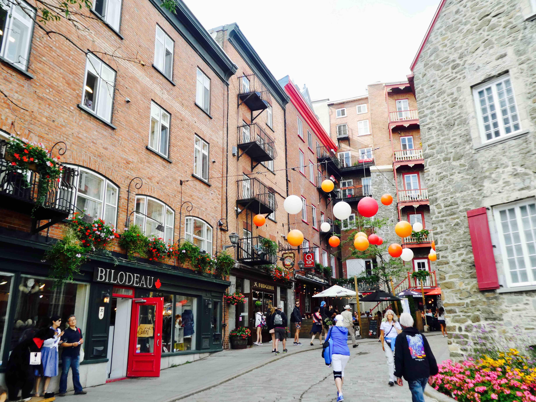 se balader dans les rues du vieux Québec