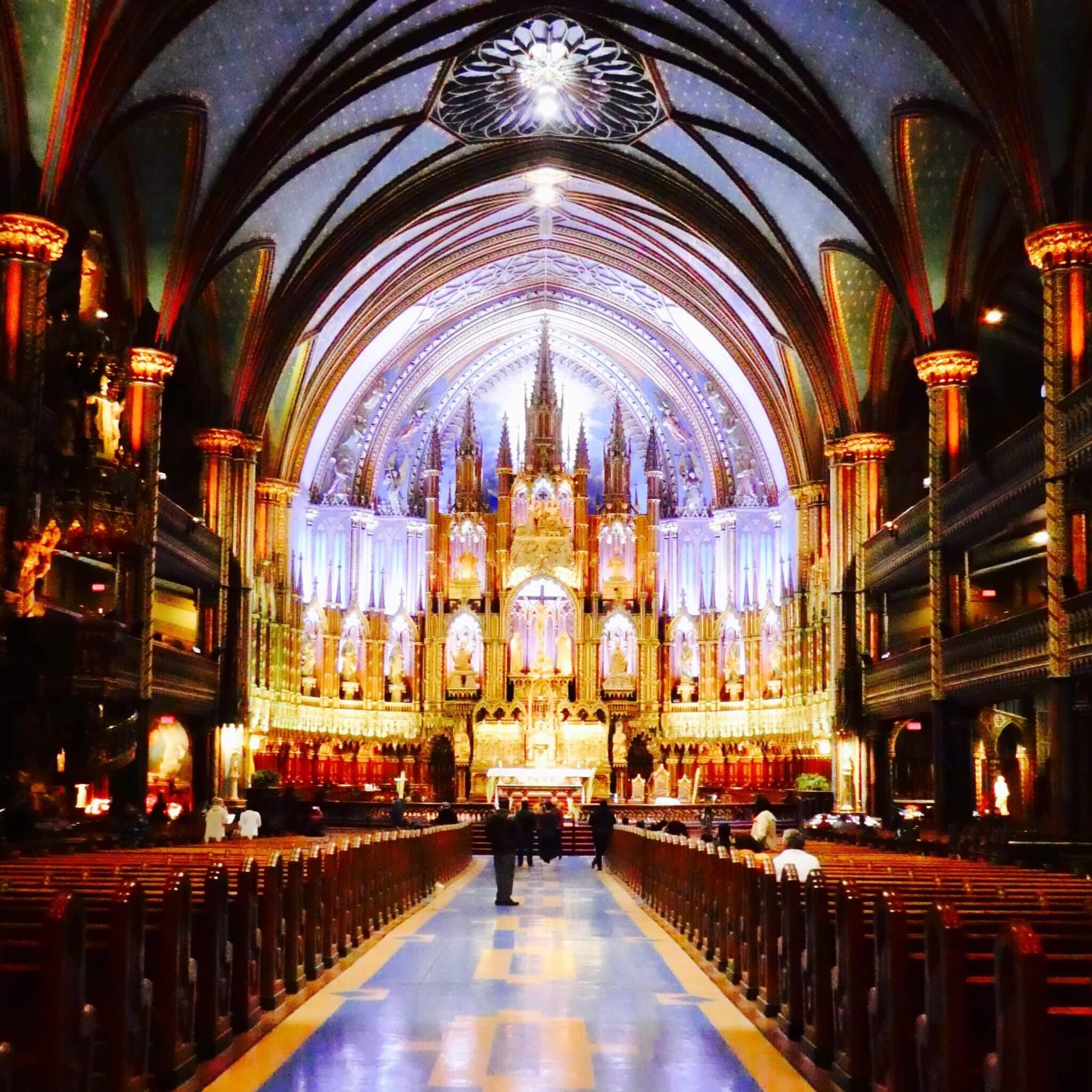 visiter basilique notre dame montreal