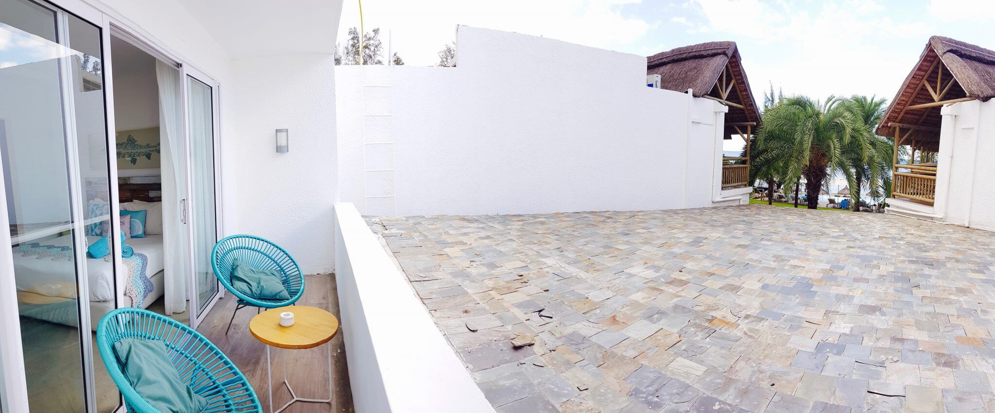 terrasse chambre standard seapoint boutique hotel ile maurice