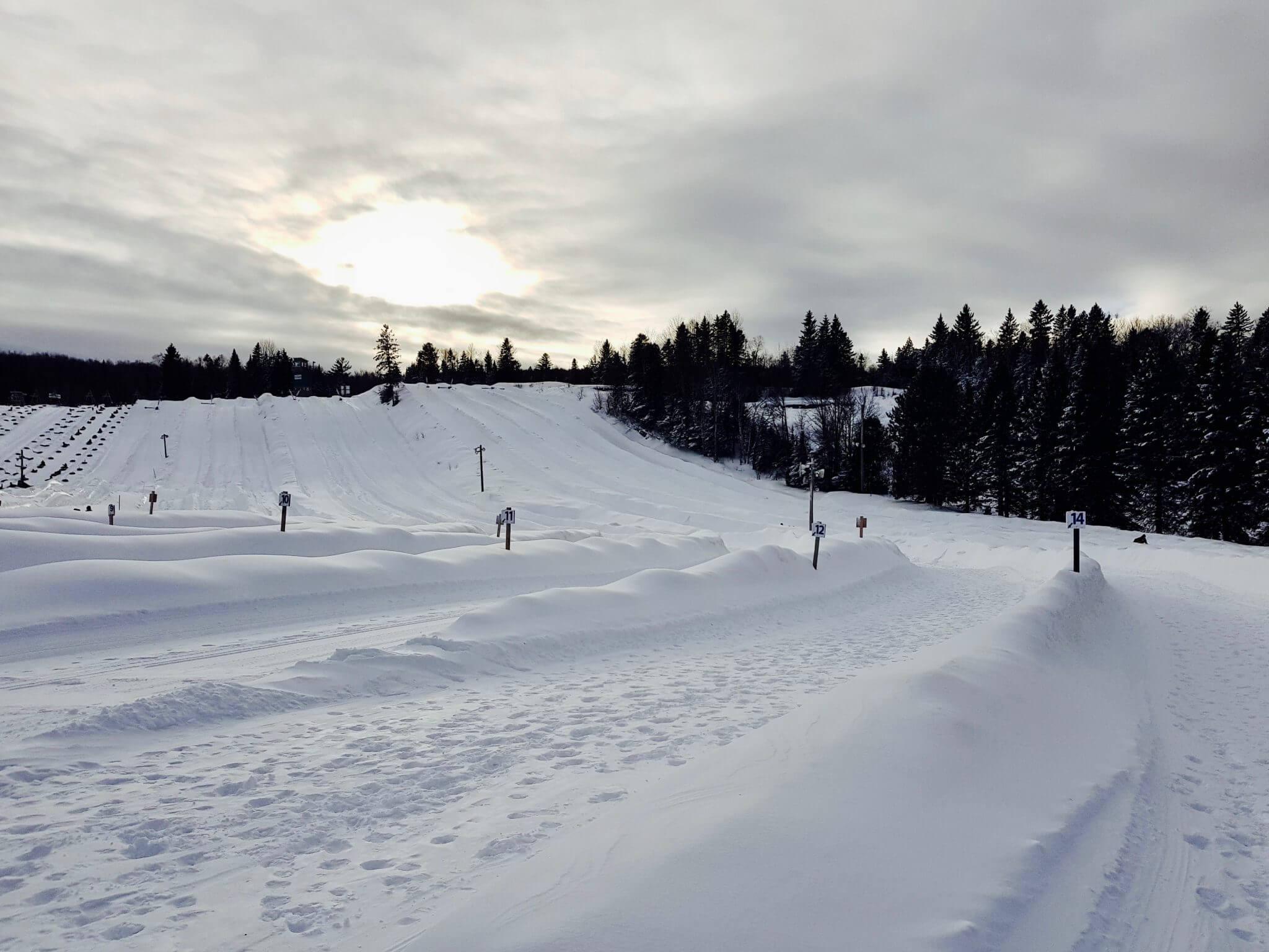 faire de la bouée sur neige proche montreal