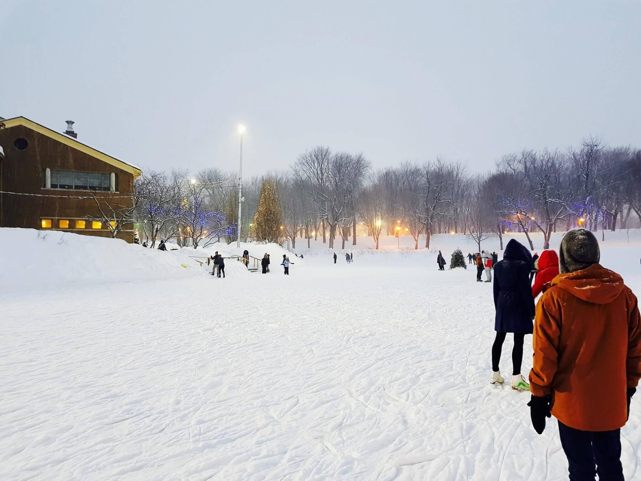 1 an à montréal hiver