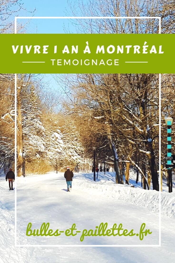 vivre 1 an à Montréal