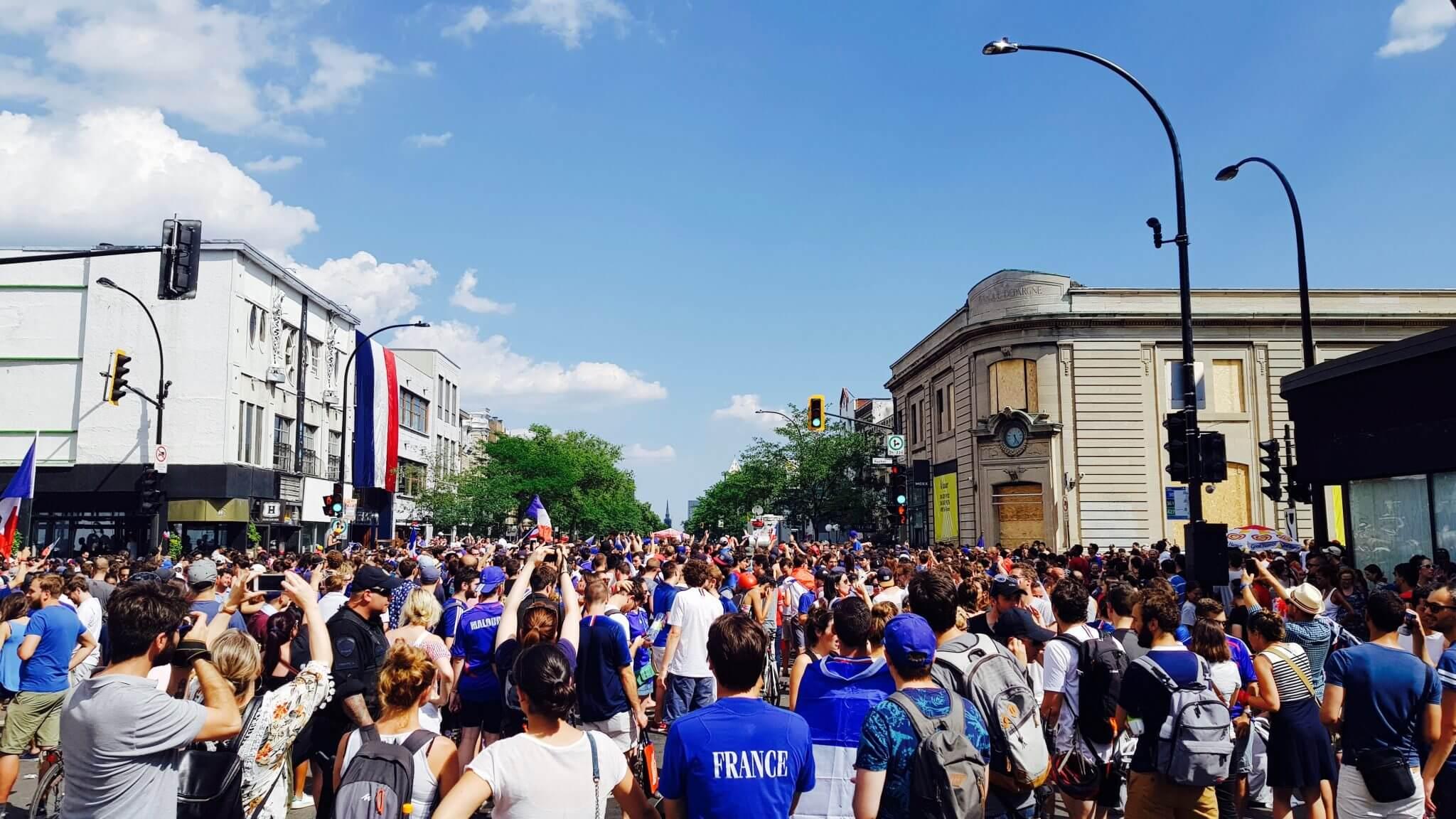 victoire des bleus à montréal